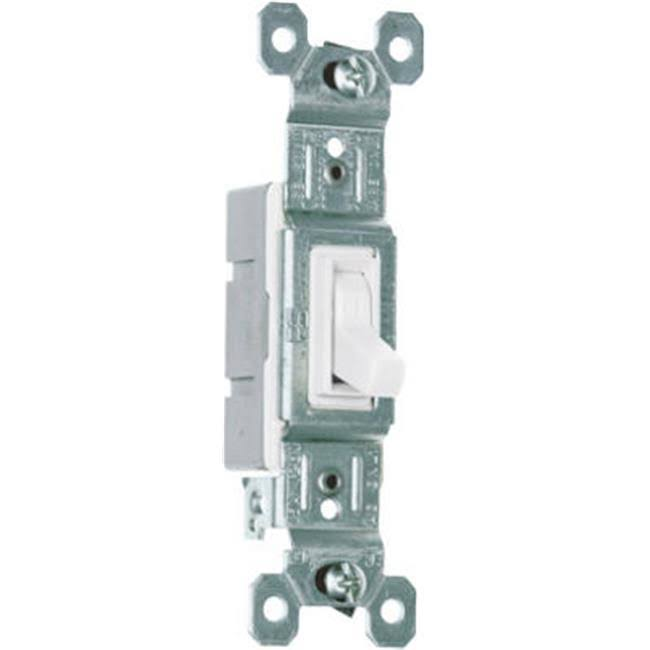Pass & Seymour Single Pole Framed Toggle Indoor Light Switch - White, 10pk, 15 Amp
