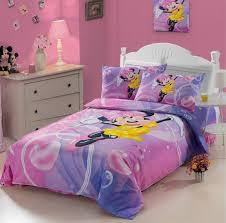 100 COTTON kids Cute cartoon Minnie Mouse Pink duvet cover Bedding