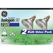shop ge 2 pack 90 watt dimmable bright white par38 halogen flood