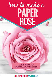 DIY Paper Rose Flower For Home Decor Nurseries Parties And Weddings