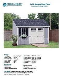 8 x 12 deluxe storage shed plans building blueprints lean to