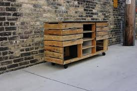 Industrial Style Rustic Media Console