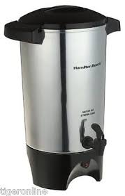 Coffee Dispenser Urn Big Silver Commercial Maker Office Restaurant Large Brewer