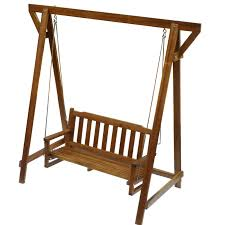 Q Toys Wooden Timber Garden Swing For Toddler Or Adult