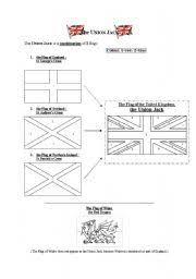English Worksheets The Union Jack