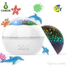 großhandel laserlicht projektor 8 farben ozean untersternenhimmel 360 grad drehendes projektor nachtlicht für kinder baby schlafzimmer dekoration