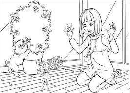 Barbie Thumbelina Coloring Pages 16 17