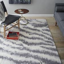 Rugs Modern Westelm Zebra Printed Wool Rugs For Awesome Living Room