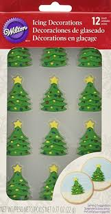 Wilton 710 3468 12 Count Christmas Tree Royal Icing Decorations