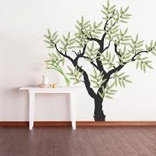 olivenbaum vinyl wand aufkleber baum wandtattoo wandtattoo kinderzimmer baum wohnzimmer wand wandkunst olivenbaum dekor