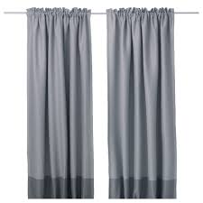 White And Gray Blackout Curtains by Marjun Blackout Curtains 1 Pair Ikea
