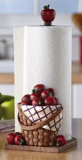 Wedding Gift Her Him Counter Kitchen Paper Towel Holder Red Apple Decoration NEW