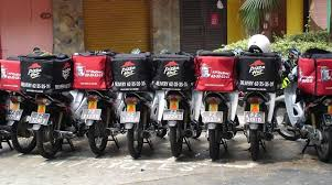 Boring Singapore City Photo KFC And Pizza Hut Delivery Bikes