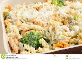 cuisson pate au four le brocoli et les pâtes font cuire au four image stock image
