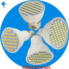5x bombilla led light bulbs 12 volt mr16 gu10 e27 e14 spotlight 3w