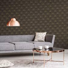 livingwalls vliestapete new walls tapete 50 s glam deco optik metallic schwarz