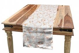 abakuhaus tischläufer esszimmer küche rechteckiger dekorativer tischläufer garten kunst bio ernte orangen kaufen otto