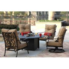 Patio Furniture Conversation Sets With Fire Pit by Darlee Santa Anita 5 Piece Cast Aluminum Patio Fire Pit