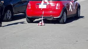 Michaels Wedding Car Decorations by Wedding Car W Coke Cans Youtube