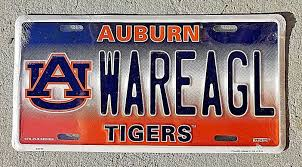 100 Truck License University Auburn Tigers Metal Car Tag Auto War Eagle