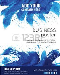 Vector Poster Template With Watercolor Paint Splash Abstract Aquarelle Background For Business Flyers Posters