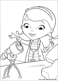 Doc Mcstuffins Coloring Page Sticker Book