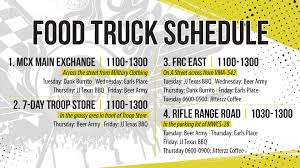 Food Truck Schedule | MCCS Cherry Point Orlando Food Truck Schedule Cnections Form Schedule 1 Irs With Express Truck Tax 5 638 Cb Accurate Though The Man Van At The 2017 Calgary Intertional Auto And City Of Pensacola Florida Upside Raleigh Little Theatres Macbeth May 13th Food Lunch 13 Stripes Brewery Facebook United Way Williamson County Forest Hill Church Kitchener Caribbean Grill Announces Splog Smile Politely C Car Expenses Worksheet Lovely Deduction Best Image Kusaboshicom Gibsonia For This Strange Roots