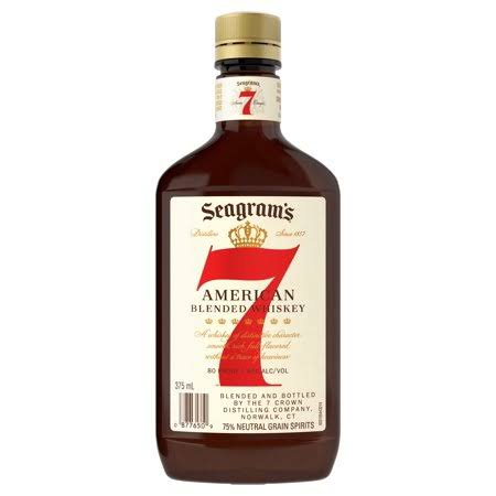 Seagrams Whiskey, Blended, American - 375 ml