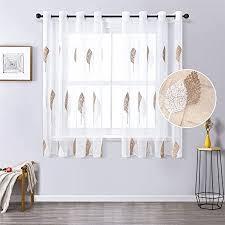 de mrtrees gardine aus voile vorhang blumen vorhänge
