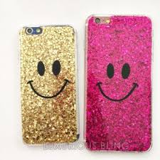 PINK Glitter Smiley Face iPhone Case iPhone 6 6 Plus