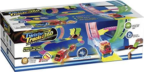 Mindscope Twister Tracks Set 360 Loop Glow in the Dark