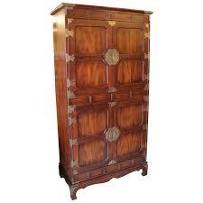 Henredon Walnut China Cabinet by Large Modern Henredon Walnut Cabinet Wardrobe With Brass Asian