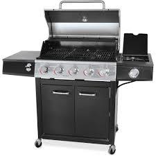 Brinkmann Electric Patio Grill Amazon by Backyard Grill 72 000 Btu 5 Burner Gas Grill Stainless Steel
