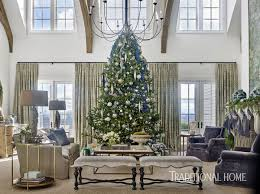 Simon Pearce Christmas Trees by Holiday Home Shimmering In Blue And Lavender Traditional Home