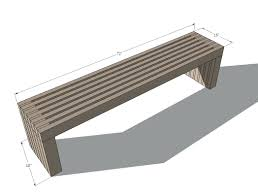 ana white build a modern slat top outdoor wood bench free and easy