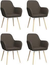 vidaxl 4x esszimmerstuhl mit armlehnen küchenstuhl