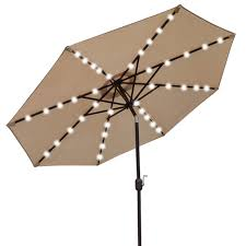 Sunbrella Patio Umbrellas Amazon by Amazon Com Benefitusa U021 270 Beg Solar 40 Led Lights Patio