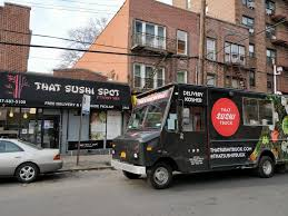 Kosher Sushi Food Truck Hits The Streets Of NYC: That Sushi Truck ... New York December 2017 Nyc Love Street Coffee Food Truck Stock Nyc Trucks Best Gourmet Vendors Subs Wings Brings Flavor To Fort Lauderdale Go Budget Travel Street Sweets Mobile Midtown Mhattan Yo Flickr Dominicks Hot Dog Eat This Ny Bash Boston And Providence The Rhode Less Finally Get Their Own Calendar Eater Four Seasons Its Hyperlocal The East Coast Rickshaw Dumplings Times Square Foodtrucksnewyorkcityathaugustpeoplecanbeseenoutside