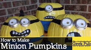 Cool Pumpkin Carving Minion by Make Minion Pumpkins For Halloween Youtube