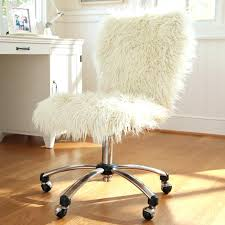 Faux Fur Desk Chair Cover Cool Photo On Fuzzy Office 1