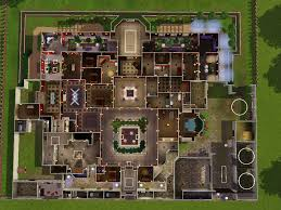 sims mansion floor plans open courtyards building plans online