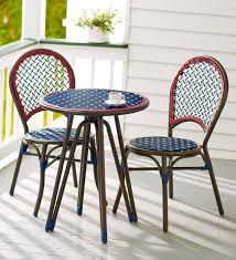 Americana Wicker Bistro Table And Chairs Set | PlowHearth Americana Wicker Bistro Table And Chairs Set Plowhearth Royalcraft Cannes Brown Rattan 3pc 2 Seater Cube Breakfast Ceylon Outdoor 3piece By Christopher Knight Home Hampton Bay Aria 3piece Balcony Patio Sirio Valentine Swivel Ellie 3 Piece Folding Fniture W Round In Dark Outdoor Cast Alinium Rattan Ding Sets Georgina With Cushions Wilko Effect