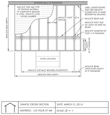 Floor Joist Size Residential by The City Of Calgary Uncovered Decks And Balconies