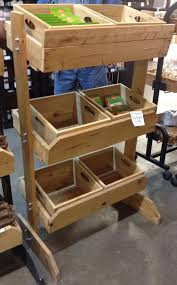 Rustic Wood Crate Removable Toy Retail Display