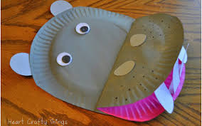 Happy Paper Plate Hippo