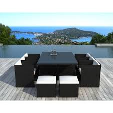 tables de jardin en resine salon de jardin cancùn résine tressée achat vente salon