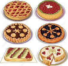 Apple pie Clip art set of homemade pies Illustration