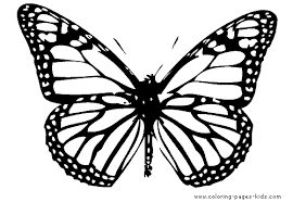 Single Butterfly Coloring Page For Kids