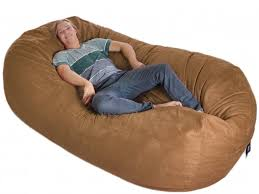 8 Huge Earth Brown SLACKER Sack Foam Bean Bag I Would Totally Love To Have