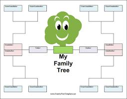 Blank Family Tree Template Free Printable
